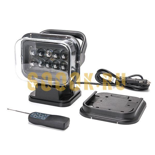Светодиодный фароискатель 50 Ватт 6k-BB4D с дистанционным управлением 12-24 Вольт для Спецтехники и Внедорожников