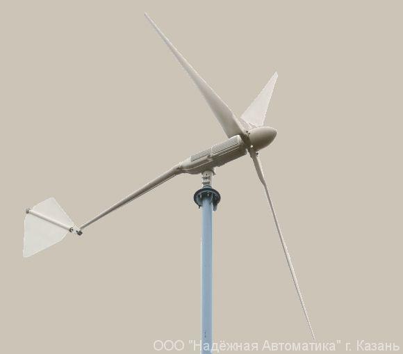 Ветрогенератор 48 В 2,5/3,5 кВт LOW WIND с контроллером заряда КЭВ Dominator 3-4 кВт.