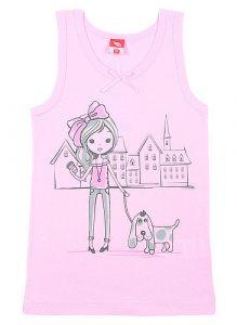 CAK2322 Розовая майка для девочки от Черубино