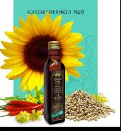 Смесь растительных масел №8 с содержанием Омега 3 6 9 (подсолнечное, рыжиковое, горчичное  + кориандр, смесь перцев)