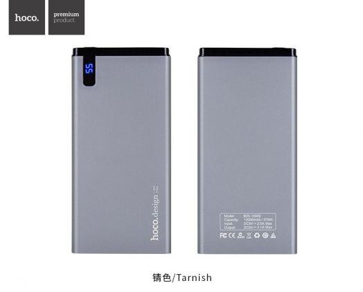 Портативный аккумулятор Hoco B25 (10000mAh), tarnish серебро