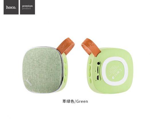 Портативная беспроводная колонка Hoco BS9 Light textile, зеленая