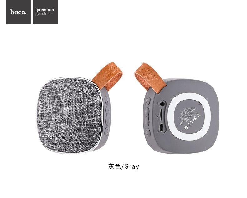 Портативная беспроводная колонка Hoco BS9 Light textile, серый