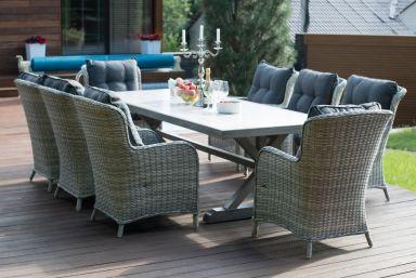 Комплект: стол  ВЕРОНА 250+ кресла БЕРГАМО (8 шт.)