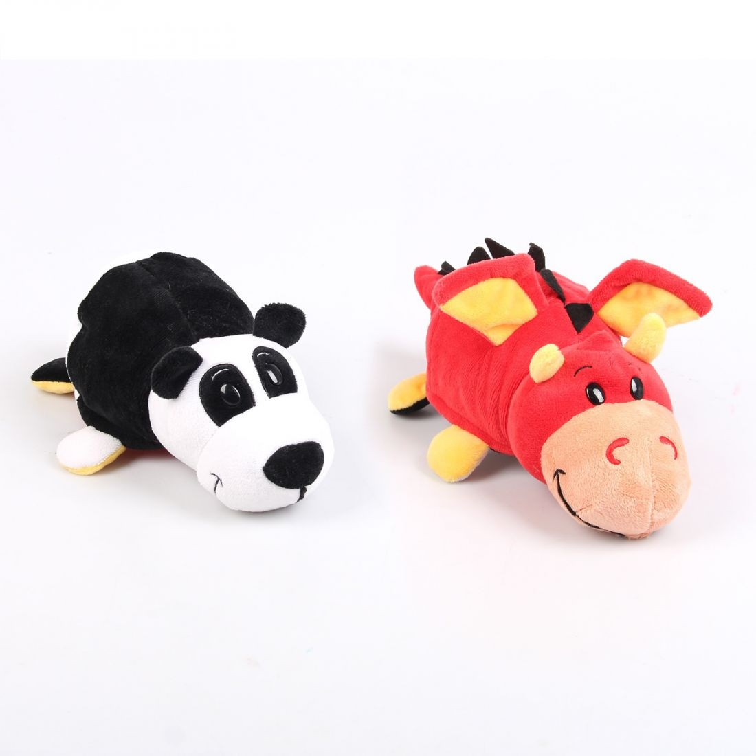 Мягкая игрушка Вывернушка 2 в 1   Панда - Красный Дракон 1 TOY 40 см