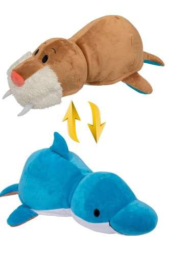 Мягкая игрушка Вывернушка 2 в 1   Дельфин - Морж 1 TOY 40 см
