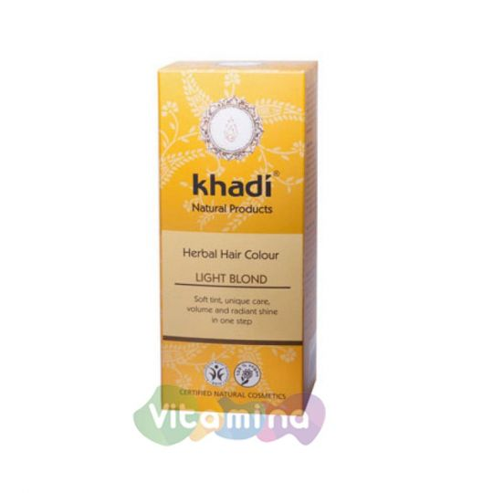 Khadi Растительная краска для волос «Светлый блондин», 100 г