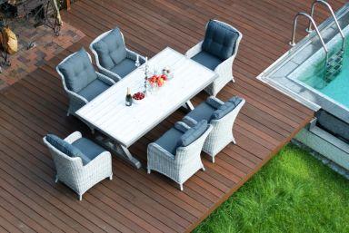 Комплект: стол ВЕРОНА_200 + кресло БЕРГАМО 6 шт.