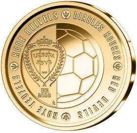 Красные дьяволы(Сборная Бельгии по футболу)2,5 евро Бельгия  2018 блистер