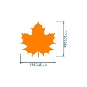 Заготовка ''Кленовый лист'' , фетр 1 мм (1уп = 5наборов)
