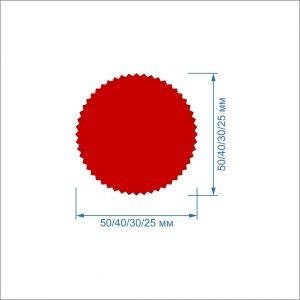 Заготовка ''Гвоздика'' , фетр 1 мм (1уп = 5наборов)