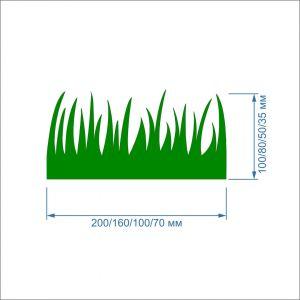 Заготовка ''Трава'' , фетр 1 мм (1уп = 5наборов)