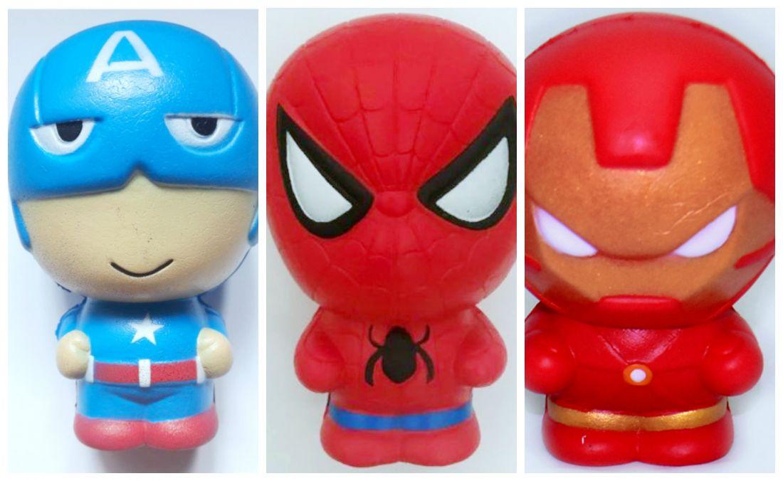 Сквиши комплект супер героев