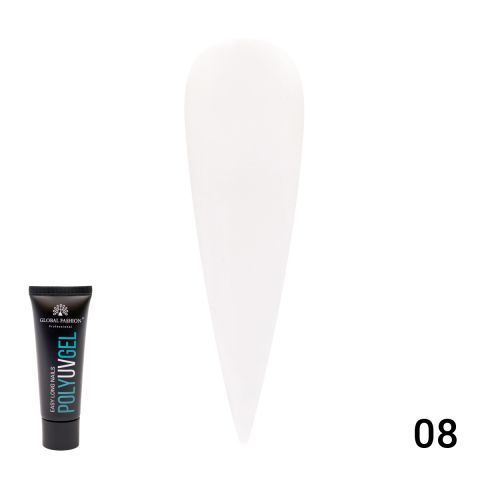Полигель (PolyGel) белый, Global Fashion 30 мл White 08