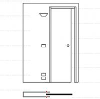 Пенал Eclisse Luce Unico для одностворчатой раздвижной двери