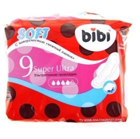 Прокладки BiBi Super Ultra Soft, 9шт