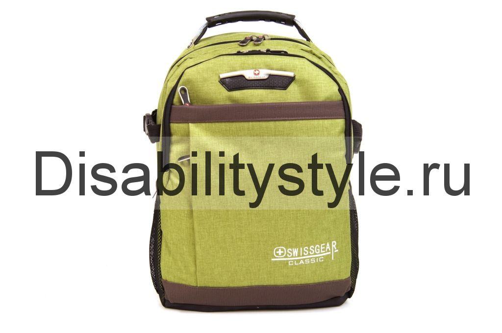 Рюкзак No name 9358# с USB зеленый