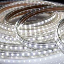 LED лента LUX, герметичная в силиконовой оболочке, 220V,  IP65, SMD 3014, 120 диодов/метр, холодный белый
