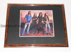 Автографы: Metallica. Д.Хэтфилд, Л.Ульрих, К.Хэмметт, Д.Ньюстед. Редкость!