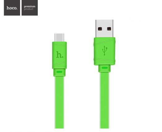 Кабель USB-Type-C Hoco X5 Bamboo, зеленый