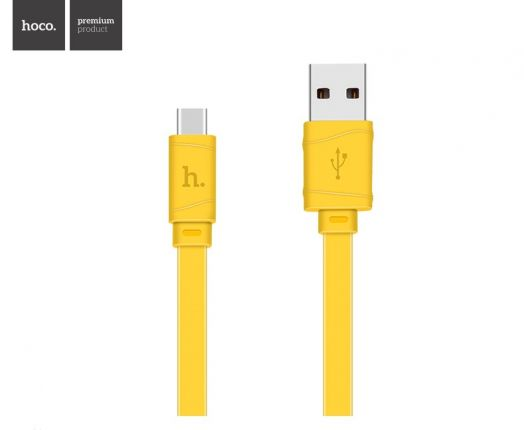 Кабель USB-Type-C Hoco X5 Bamboo, желтый