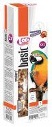 Lolo Pets Smakers Крекеры для крупных попугаев с орехами и фруктами XXL (250 г)