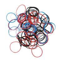 DEWAL Резинки для волос, силиконовые, цветные, mini 100 шт/уп