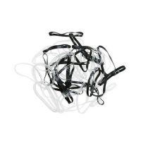 DEWAL Резинки для волос, силиконовые, черные/белые, mini 50 шт/уп