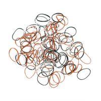 DEWAL Резинки для волос,силиконовые, цветные, mini 100 шт/уп