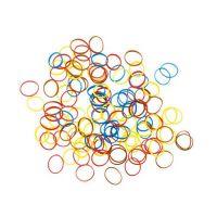 DEWAL Резинки для волос,силиконовые, цветные, mix mini 100 шт/уп