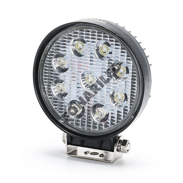 Круглая светодиодная фара FR9-27W flood (ближний, рабочий свет)
