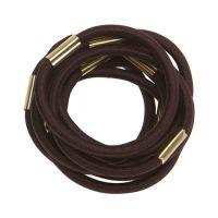 DEWAL Резинки для волос, коричневые, maxi 10 шт/уп