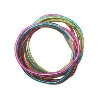 DEWAL Резинки для волос, цветные, блестящие, mini 10 шт/уп