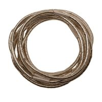 DEWAL Резинки для волос, блестящие, коричневые, mini 10 шт/уп