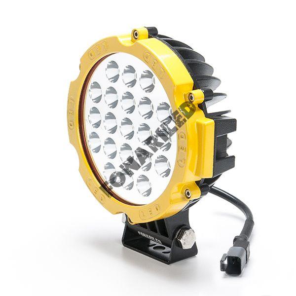 Желтая светодиодная фара FGE21-63W spot дальний свет