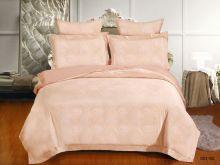Комплект постельного белья Лен Soft cotton жаккард   евро  Арт.31/003-SC