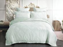 Комплект постельного белья Лен Soft cotton жаккард   евро  Арт.31/004-SC