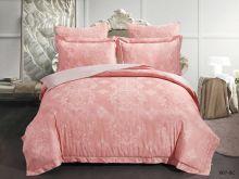 Комплект постельного белья Лен Soft cotton жаккард   евро  Арт.31/007-SC