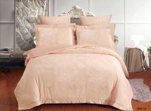 Комплект постельного белья Лен Soft cotton жаккард   евро  Арт.31/009-SC