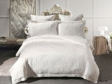 Комплект постельного белья Лен Soft cotton жаккард   евро  Арт.31/011-SC