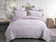Комплект постельного белья Лен Soft cotton жаккард   евро  Арт.31/012-SC