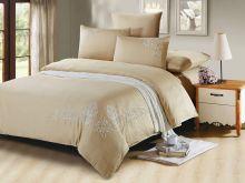 Комплект постельного белья Luxury modal  с вышивкой семейный  Арт.41/002-МЕ