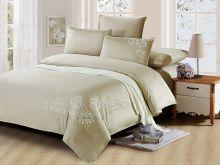 Комплект постельного белья Luxury modal  с вышивкой семейный  Арт.41/004-МЕ