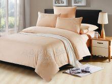 Комплект постельного белья Luxury modal  с вышивкой семейный  Арт.41/012-МЕ