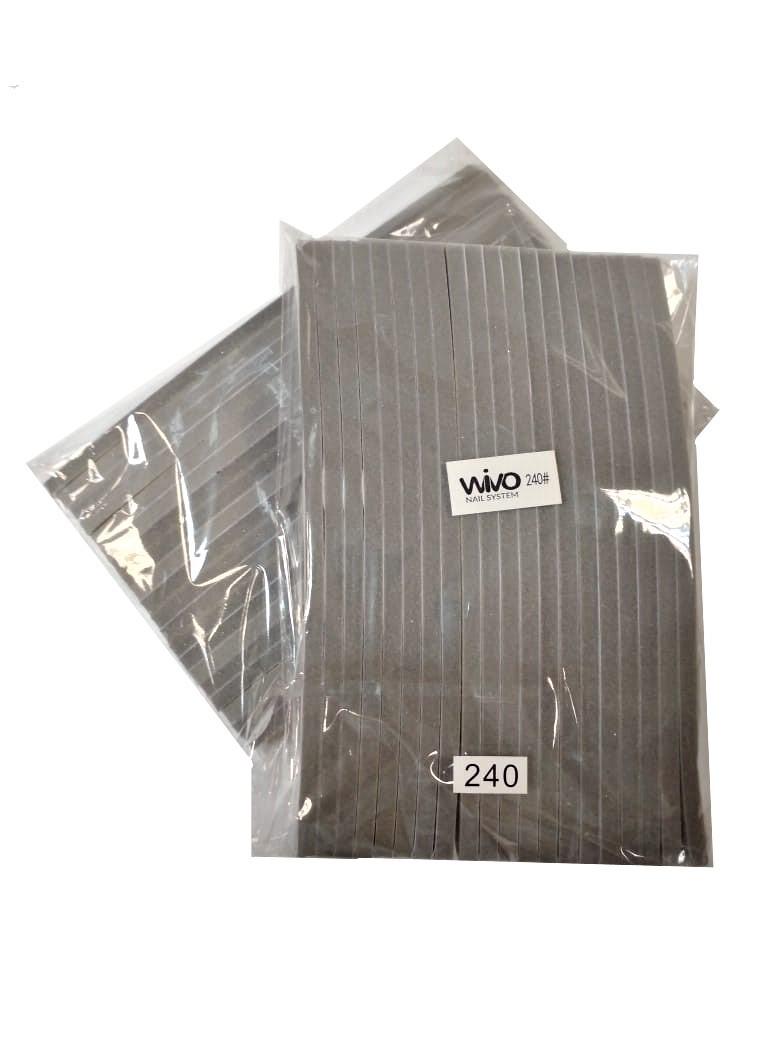 Сменные файлы-бафы WIVO на липкой основе ЛУНА 240 грит  (180х28мм., 20 шт.)
