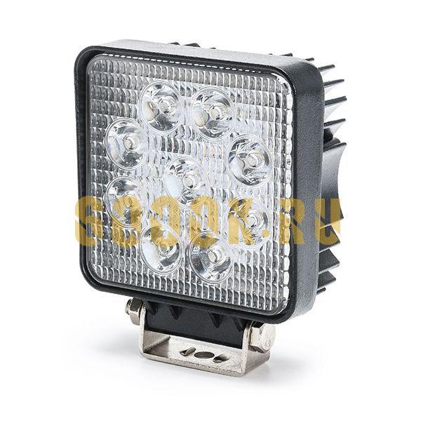 LED фара 27 Ватт дальнего света размер 11 см