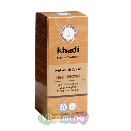 Khadi Растительная краска для волос «Светло-коричневый», 100 г