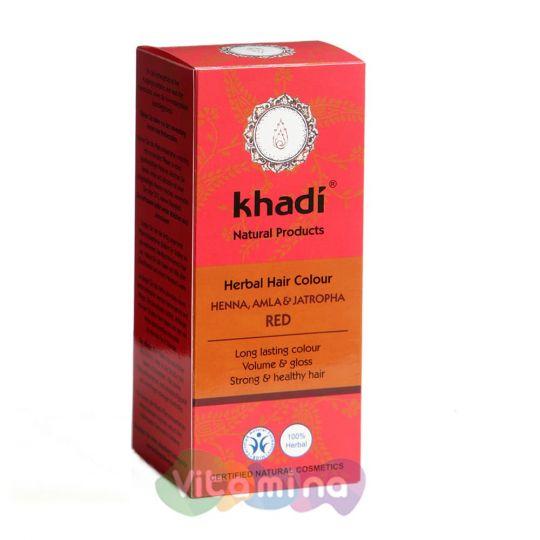 Khadi Растительная краска для волос «Хна, амла и ятрофа», 100 г