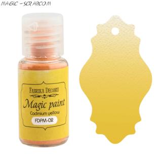 """Сухая краска Magic paint """"Кадмий желтый"""""""