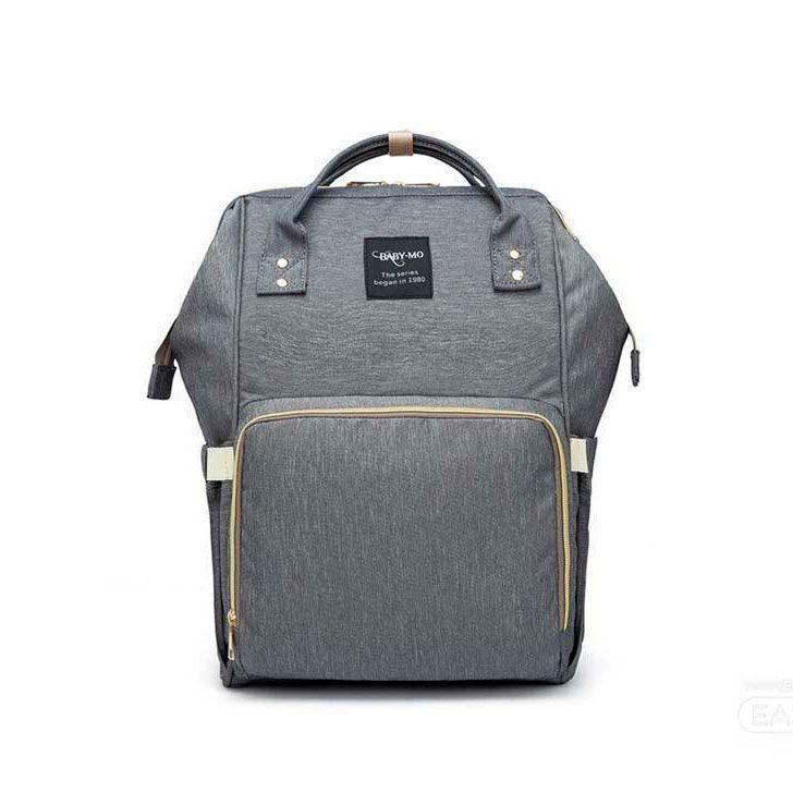 Сумка-рюкзак для мамы Baby Mo (MUMMY BAG), цвет светло-серый